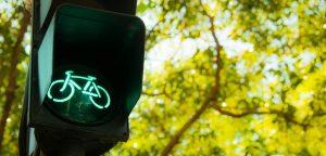 Groen stoplicht fiets