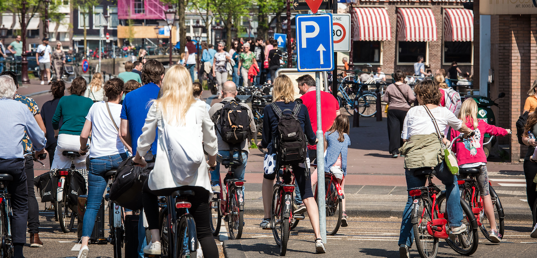 Fietsers Amsterdam
