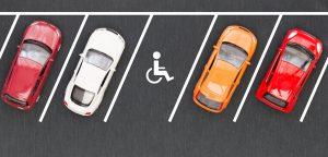 Parkeerplaatsen invalideplek