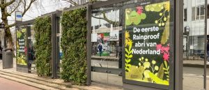 Amsterdam groene tramhalte