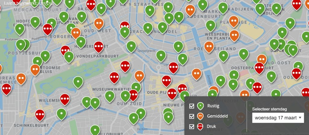 drukte stembureaus Amsterdam