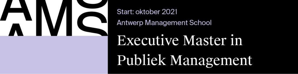 Antwerp Management School Master Publiek Management banner Gemeente_nu