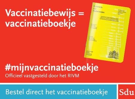 Bestel het gele boekje voor registratie van uw vaccinatie tegen het coronavirus