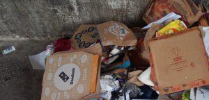 Afvalscheiding verwijderde pizzadozen